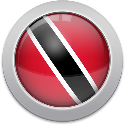 Trinidadian or Tobagonian flag icon with a silver frame