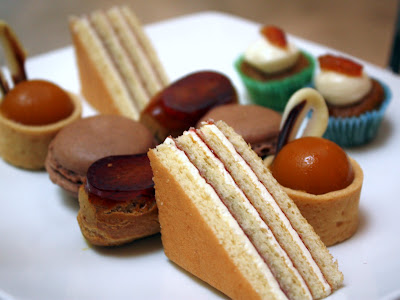 Sweets at afternoon tea at the Andaz hotel on Liverpool Street in London England