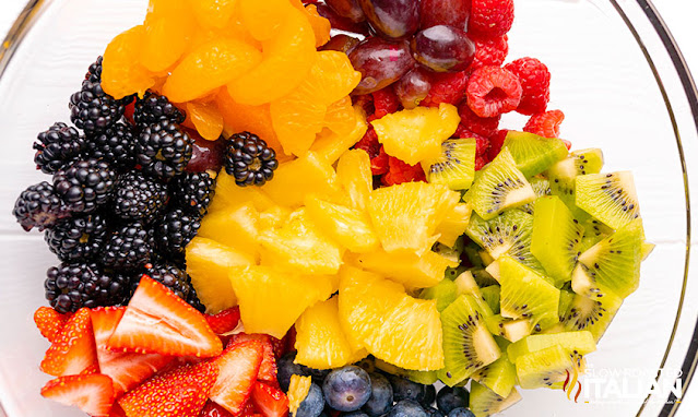 fruit salad recipe in a bowl