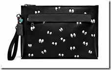 Disney Eyes Leather Pouch in Black (32643)