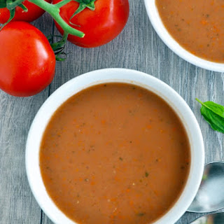 Creamy Tomato and Carrot Soup.