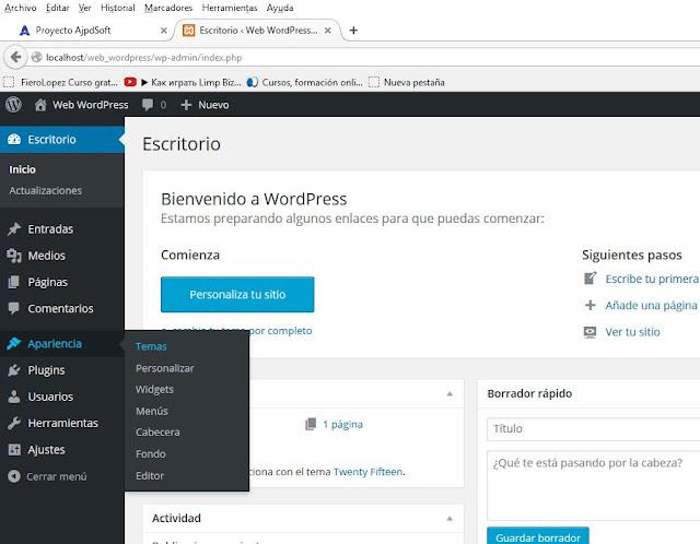 Cambiar el tema por defecto de WordPress