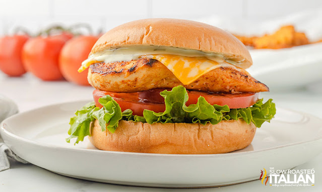 chick fil a spicy chicken sandwich on a white plate