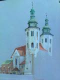 Kościół św Andrzeja w Krakowie in statu nascendi - kredka