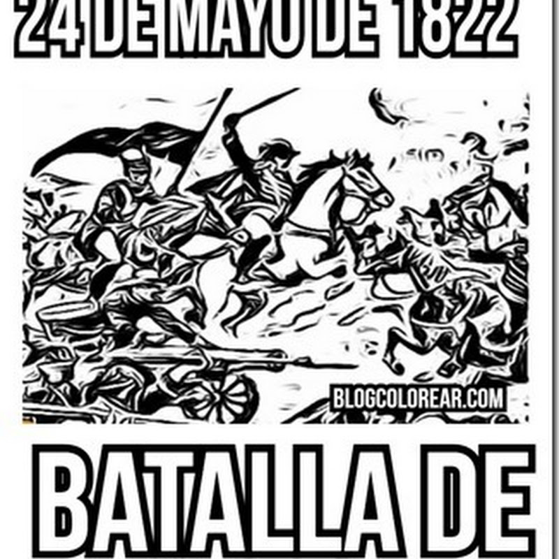 Dibujos Batalla de Pichincha a colorear