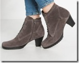 Gabor grey suede lace up ankle boot