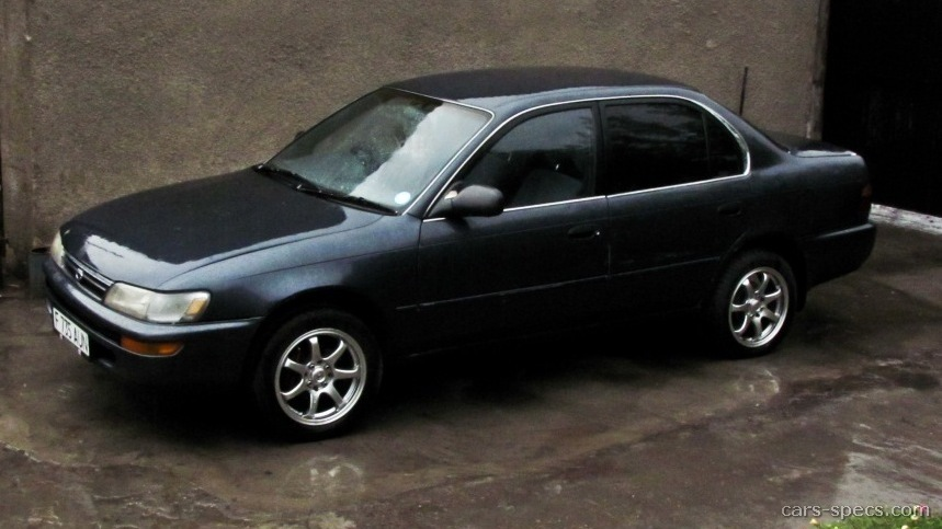 1995 toyota corolla sedan specifications pictures prices rh cars specs com toyota corolla 1995 service manual pdf toyota corolla 1995 service manual free download