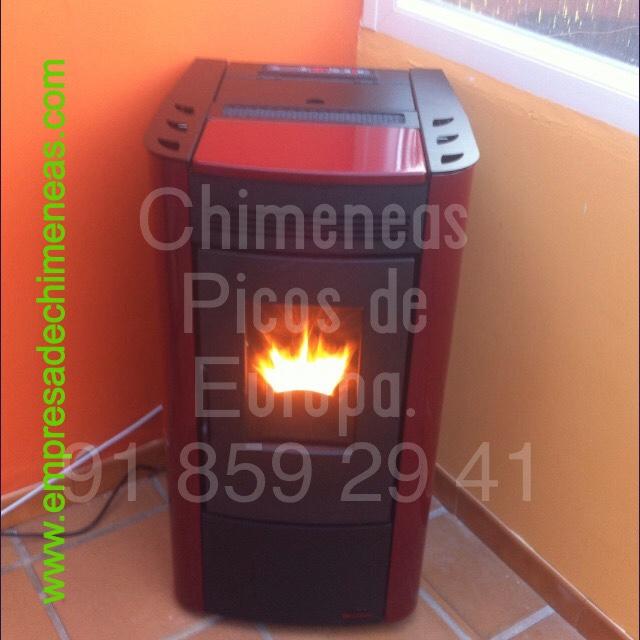 Chimeneas picos de europa foto estufa de pellets calor y - Estufa de calor ...