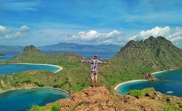 Gorgeous landscape of the islands of Flores, Indonesia