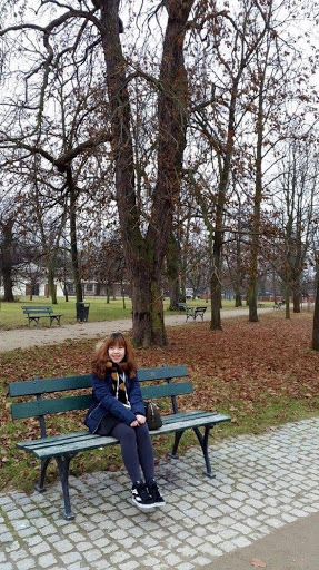 Sitting at Wilanow Park in Warsaw Poland
