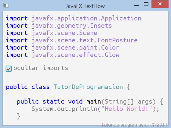 JavaFX Text y TextFlow