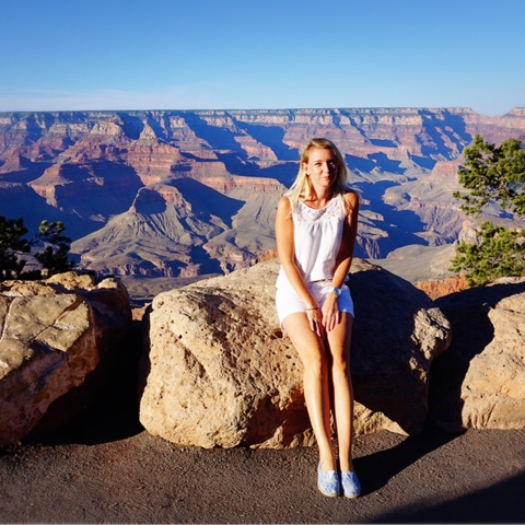 full krok upp Grand Canyon