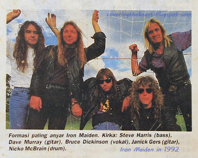 Iron Maiden 1992 coveringthebeast Dickinson Harris Gers McBrain Dave Murray