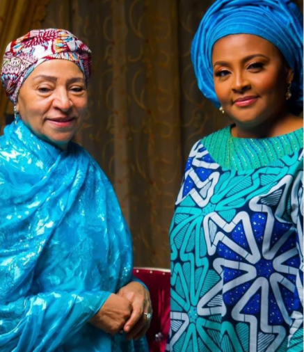 Former Nigerian Military Head of State, Abacha's Wife And Daughter Look Stunning In New Photos