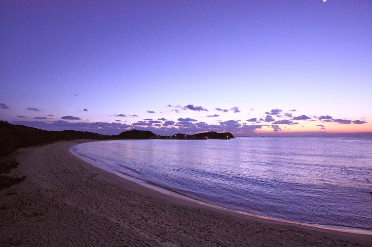 筒城浜海水浴場 日の出前