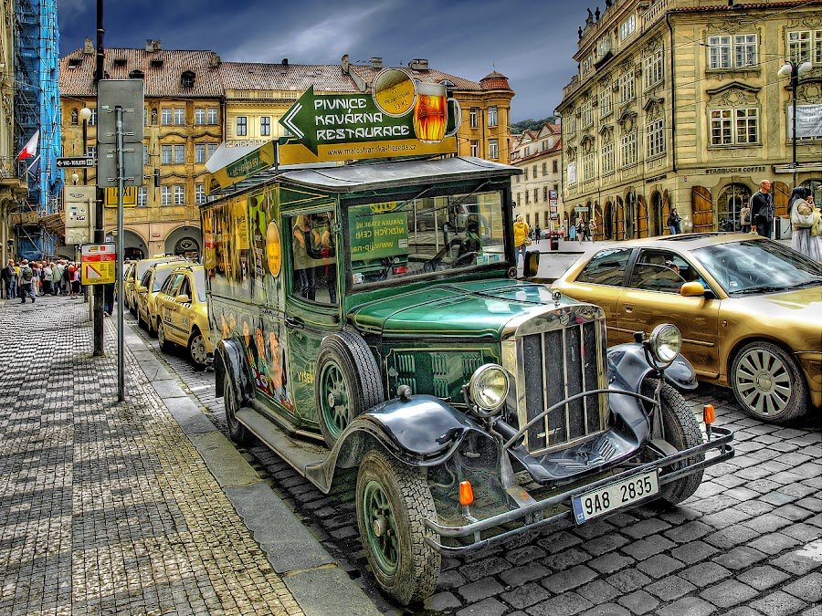 In Prague by Khaled Ibrahim - City,  Street & Park  Street Scenes