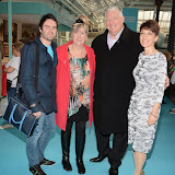 OIC - ENTSIMAGES.COM - George Gilbey with mum Lynne and dad Pete and Anna Kennedy at the   Ideal Home Show  in London 20th March 2015 Photo Mobis Photos/OIC 0203 174 1069