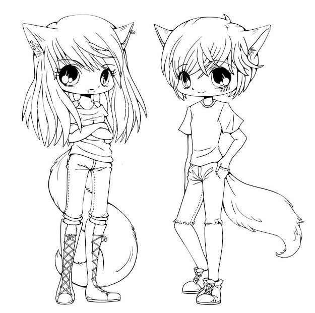 Cute Chibi Coloring Pages
