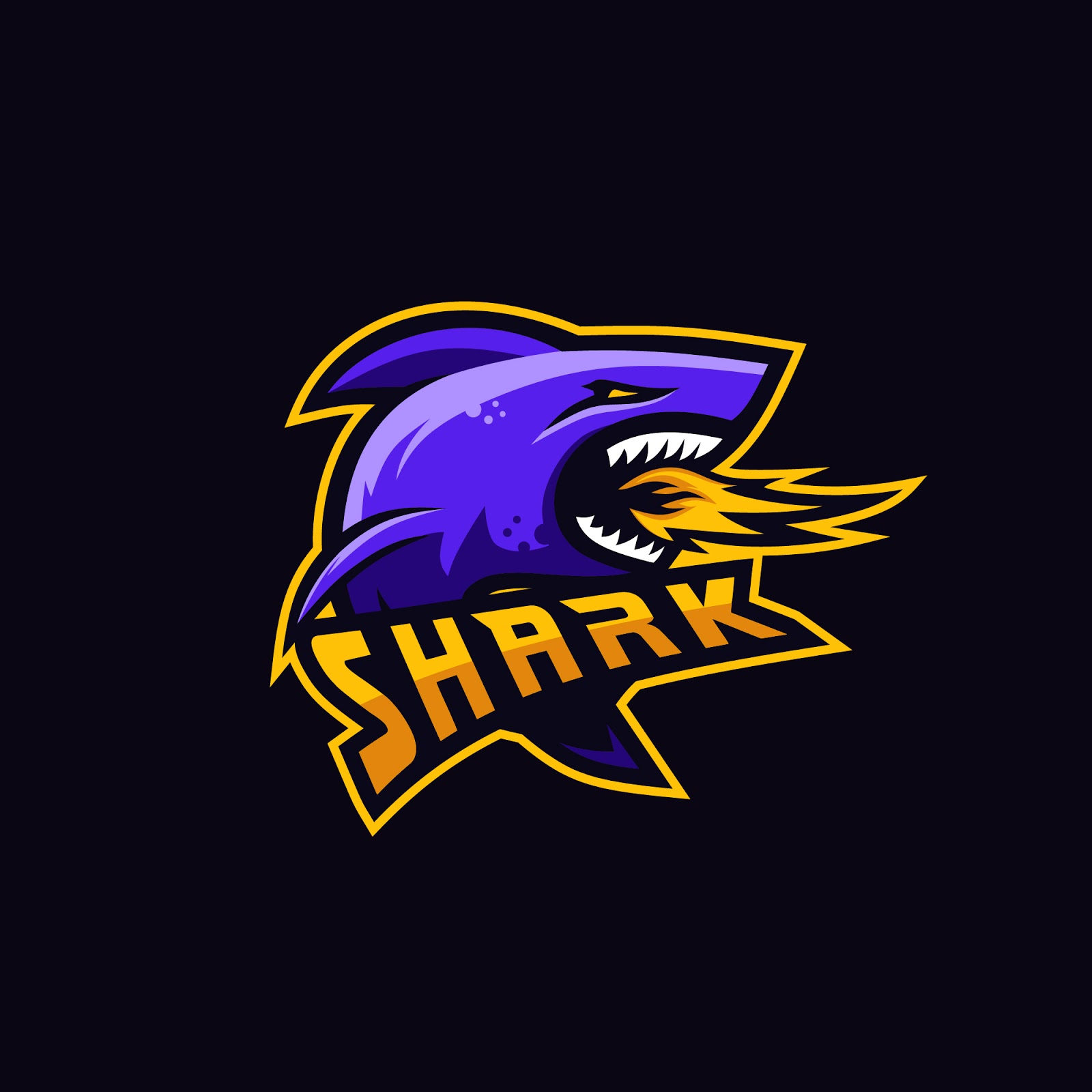 Shark Premium Logo Squad Gaming Free Download Vector CDR, AI, EPS and PNG Formats