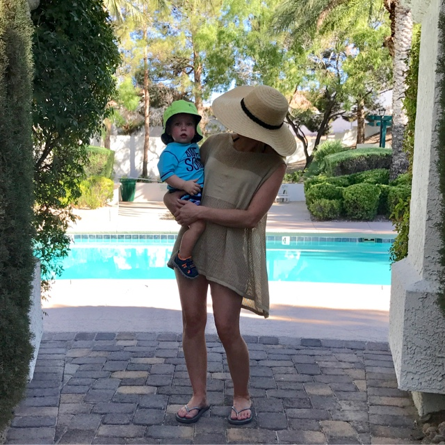 Thrifty Wife, Happy Life- Cardimom worn as a pool cover up
