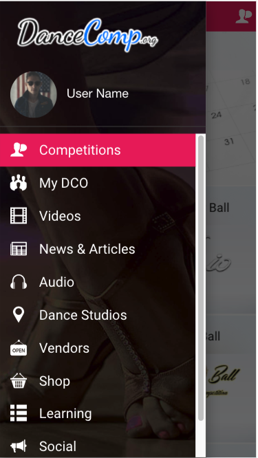 DanceComp- screenshot