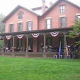 5th MI Band with the Toledo Highlanders on veranda of Speigel Grove