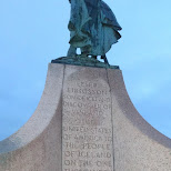 statue at the Hallgrímskirkja in Reykjavik, Hofuoborgarsvaeoi, Iceland