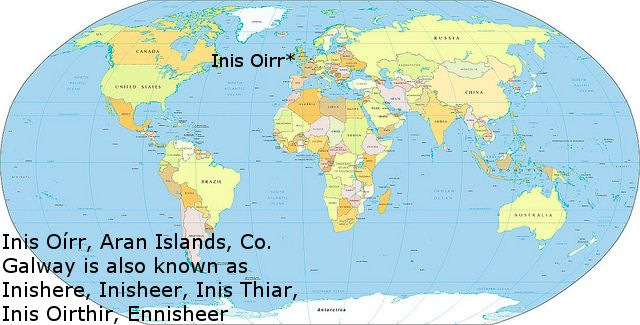 Mapa den Domhan