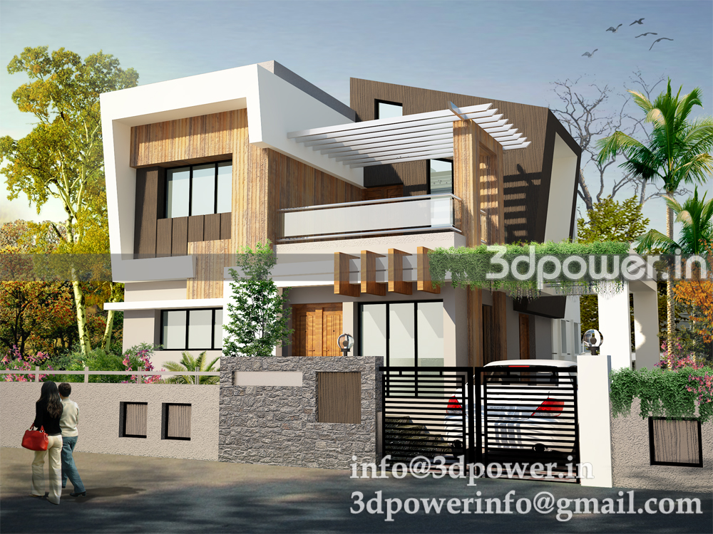 ... section, photomontage in india: 3D Rendering Row Houses 3D Township