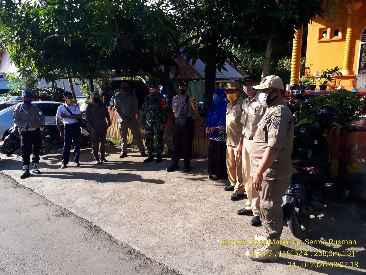 Patroli PDPK di Galakkan Tim Gabungan TNI, Polres dan Pemkab Soppeng di Pasar Tanjonge, Ini Tujuannya