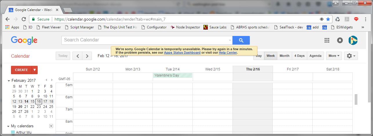 Google Calendar Art : Chrome debugger throwing uncaught typeerror with google