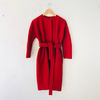 Gucci Red Wool Coat