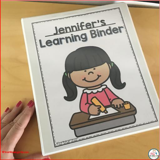 Kindergarten skills binder