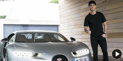 Cristiano Ronaldo acquired and tested his brand new Bugatti Chiron