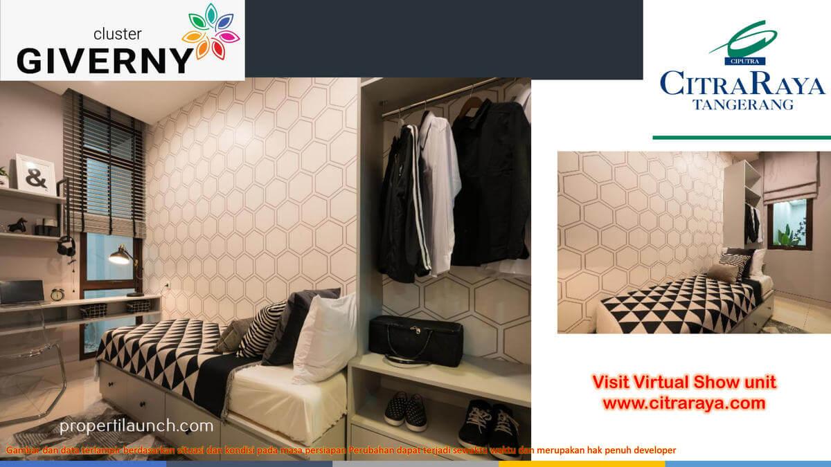 Show Unit Rumah Giverny Citra Raya - Bedroom
