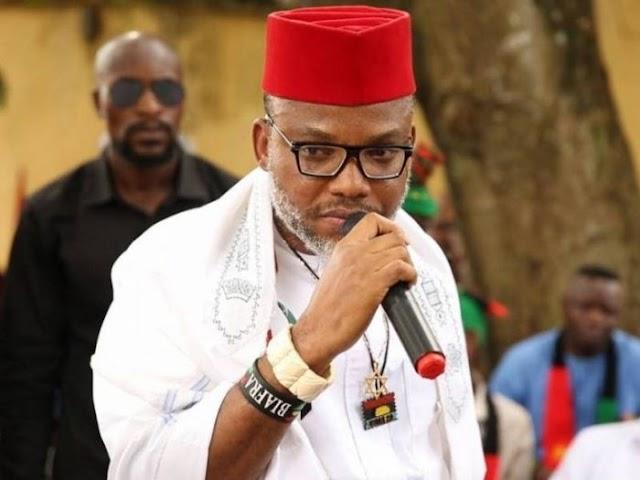 Don't touch Sunday Igboho, Nnamdi Kanu warns FG