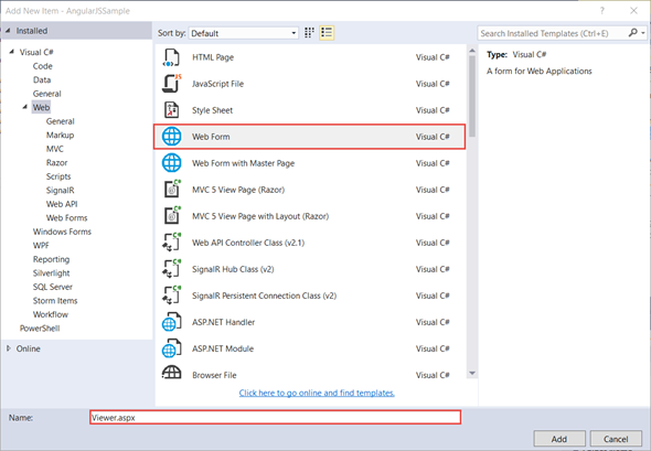 Jaliya's Blog: Using WebForms ReportViewer Control Inside AngularJS