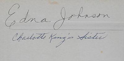 Edna Johnson Craigs back