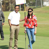Kajal Agarwal at Cancer Crusaders Invitation Cup at Hyderabad Golf Club