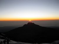 Kili Climb Day 5 - Sunrise from the top of Africa