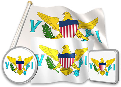 island Animated flag virgin