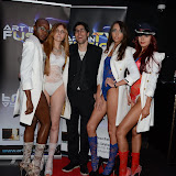 WWW.ENTSIMAGES.COM -  models at ART IN FUSION TV - 3rd ART Exhibition Night at Jalouse Hanover Square London June 28th 2013                                               Photo Mobis Photos/OIC 0203 174 1069