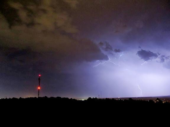 Lightning strike southwest of Price