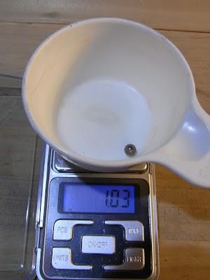 ベアリング(1/4inch)の重量