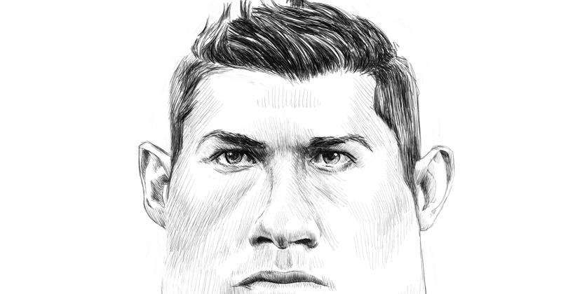cristiano ronaldo caricature