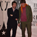 OIC - ENTSIMAGES.COM - Graham Coxon and Alex James at the  The BRIT Awards 2016 (BRITs) in London 24th February 2016.  Raymond Weil's  Official Watch and  Timing Partner for the BRIT Awards. Photo Mobis Photos/OIC 0203 174 1069