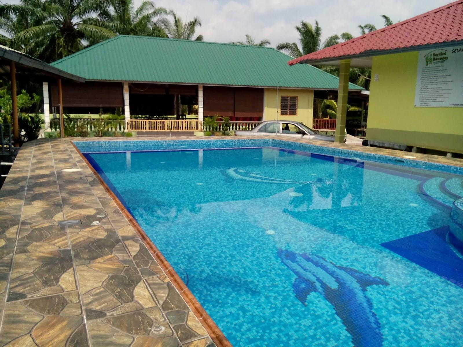 Chalet 20 Bilik Dengan Swimming Pool Kg Tehel