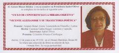 Conferencia de Amparo Bonet 'Vicente Aleixandre y su trayectoria poética'. 13 junio 2013.