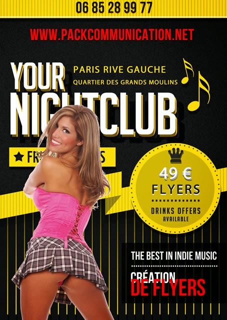création flyer soirée thème Your Nightclub Indie Club