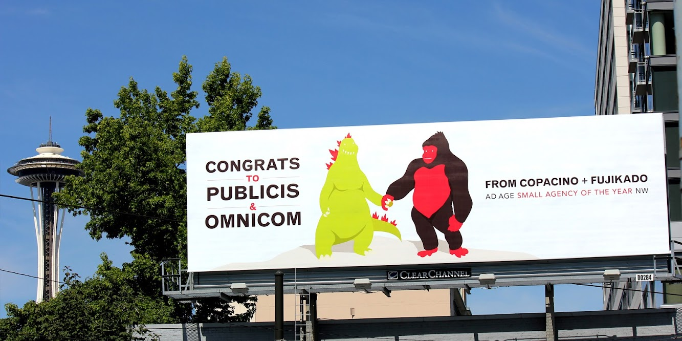 Copacino+Fujikado Offer Up A Big Congrats To Omnicom & Publicis